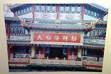 Vintage 80s Photo Hong Kong China Vacation Taibai Seafood Restaurant Dragon Roof