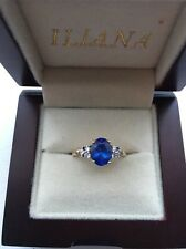 Beautiful ILIANA  18k Y Gold AAA Tanzanite Ring Size M