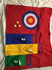 FLEXA PLAY CURTAIN-3PC BULLS EYE GAME PRIMARY COLORS - VELCROS TO LOFT BED NEW!