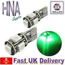 2x ERROR FREE CANBUS 5 SMD LED 501 T10 W5W GREEN Side Light Interior UK Audi