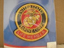 U. S. MARINE CORPS  PATCH - MARINE CORPS LEAGUE - LIFE MEMBER -GOLD BULLION