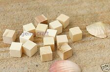 20 Cube Raw unfinished  solid Wood beads 15x15x15mm ,no hole, Craft, Art, Design
