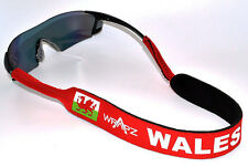 Wrapz WALES Floating Neoprene Glasses Strap Head Band 45cm Welsh  STRAP ONLY
