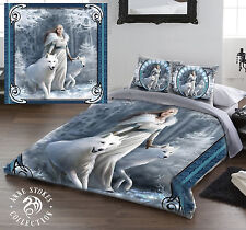 WINTER GUARDIANS - Duvet Cover Set for DOUBLE BED artwork by ANNE STOKES