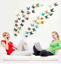 3D Butterflies colorful  For Home Decoration 19pcs/lot H1-004