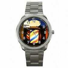 Barber Shop Vintage 50s Light Pole Stainless Steel Sport Watch New!