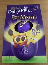 CADBURY DAIRY MILK BUTTONS EASTER EGG, 138g, BRITISH CHOCOLATE, SHIP WORLDWIDE