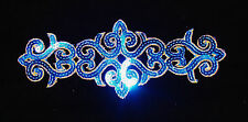 blue Sequin embroidery patch lace applique motif dress irish dance costume