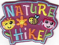 """NATURE HIKE"" IRON ON EMBROIDERED PATCH - SPORTS - HIKING - OUTDOORS"