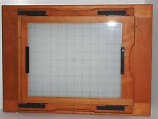 Lotus wood 12x20 to 11x14 inch reducing back with original ground glass. RARE !