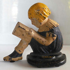 "Maxfield Parrish ""Girl Reading a Book"" Bookend or Doorstop - RARE ANTIQUE"