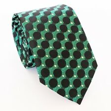 100% NEW, SILK DESIGNER, TIE + POCKET SQUARE WITH BOX GREEN