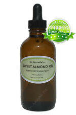 1oz Glass Bottle with Glass Dropper Sweet Almond Oil Organic for Skin Care Hair