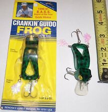 Lot of 2 Crankin' Guido Frog Lures NEW Unfished Floting Jointed Fishing Lures 2