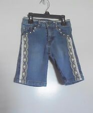 Mary-Kate & Ashley Denim, Lace & Pearl Studded Girl's Shorts 4