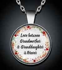 Grandma Grandmother Granddaughter Necklace Silver Pendant New Jewelry Gift