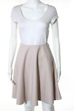 Prada Light Pink Cashmere A Line Skirt Italian Size 40 New