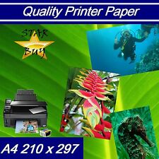 A4 160 gsm x 500 sheets SILK 2 SIDED PRINTER PAPER - LASER - DIGITAL - CRAFT