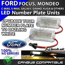 x2pc 18 SMD FORD MONDEO CMAX FOCUS FIETA LED WHITE NUMBER PLATE UNIT LIGHTS