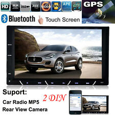 "7"" HD 2 DIN In-Dash Bluetooth Car Stereo Android USB FM Radio MP3 MP4 MP5 Player"