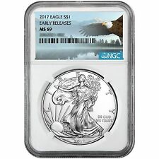2017 Silver American Eagle MS69ER NGC Bald Eagle Label