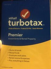 Turbotax Premier 2016 Brand New For Windows And Mac CD SEALED!!