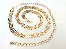New Gold & Silver M Link Design Ladies Waist Chain Belt One Size Fits All