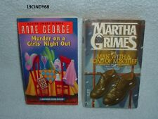 """2 MYSTERY PAPERBACKS-""""MURDER ON A GIRLS' NIGHT"""" & """"MAN WITH A LOAD OF MISCHIEF"""""""