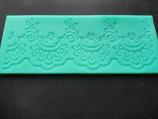 Flower Border Lace Fondant Gumpaste Mat Mould Cake Decoration Sugarpaste Icing