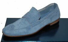Fabi Men Blue Suede Loafer Italy Driving Casual Shoes Moccasins Sz US 12 EU 45