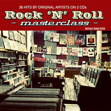 ROCK AND ROLL MASTERCLASS NEW 2 CD 36 HITS FROM THE 50's + 60's ROCK N ROLL