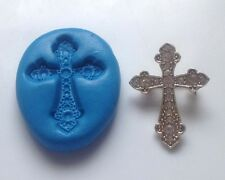 Cross 2 Silicone Mould Cupcake Cake Decorating Toppers, Sugarcraft, Fimo,PMC