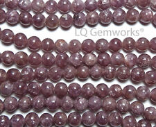 "15.5"" PURPLE LEPIDOLITE 6mm Round Beads AA NATURAL"