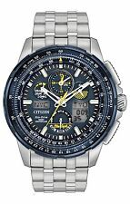 **BRAND NEW** CITIZEN WATCH ECO-DRIVE SKYHAWK AT BLUE ANGELS SS JY8058-50L NIB!