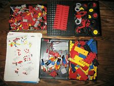 Huge Lot FISCHERTECHNIK Pieces Parts Wheels People Connectors Trays Block