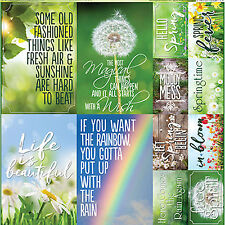 Reminisce SIGNS OF SPRING POSTERS 12x12 Cardstock Sticker Sheet scrapbooking