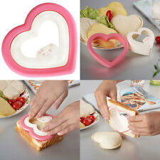 Heart Shaped Sandwich Bread Cookie Mold Biscuit Cake Cutter Mould  New