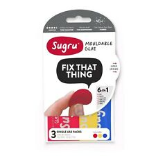 SUGRU ** NEW 3 pack- RED/YELLOW/BLUE *REPAIR CABLES AND CONNECTORS *SAVE MONEY**