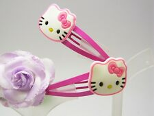 2 Hello Kitty Soft Rubber Hair Clip Barrette (Free Shipping 2 pieces) LK254