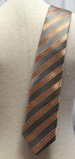 Landisun of Hi Malaya Men's Tie Coral Herringbone Diagonal Striped Classic Black