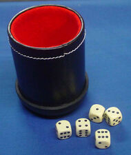 Deluxe Leather Dice Cup and Dice Set For Casino Games
