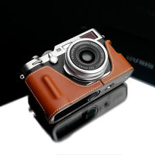 GARIZ HG-X100FCM Genuine Leather Half Case for Fujifilm Fuji X100F Camel Brown