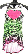 New! Flowers By Zoe Youth Girls Color Tribal Sequin Heart Maxi Dress - XL (14)