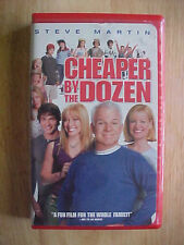 Cheaper by the Dozen (VHS, 2003, Clamshell) Steve Martin, Bonnie Hunt Rated PG