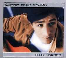 GIORGIO GABER PLATINUM DELUXE BUTTERFLY CD SIGILLATO!!!