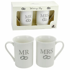 Mr & Mrs Boxed Mug Set Wedding Gift Present Ideas CM179 Gifts Idea