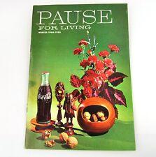 Coca-Cola Coke Rupture pour Vivant Magazine Livre USA Edition Hiver 1964