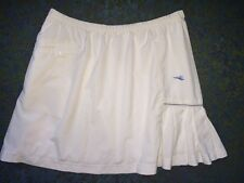 WOMEN'S DIADORA DIADRY WHITE PLEATED LINED ATHLETIC TENNIS GOLF SKIRT SZ SMALL