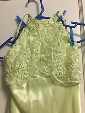 Long Formal Prom Evening Dress Cocktail Party Ball Gown Light Green Beading