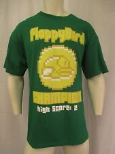 NEW FLAPPY BIRD CHAMPION GRAPHIC CREW NECK T-SHIRT SIZE XL GREEN VIC-THOR1